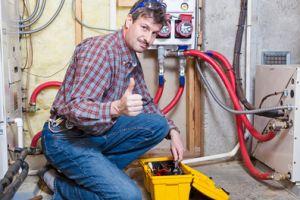 heating contractor performing repairs in grayson